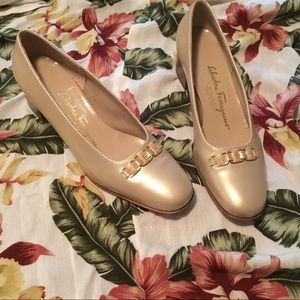 """""""Because"""" Gilded Tan Embellished Loafers, 7B"""